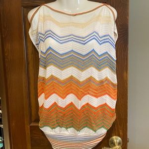 Missoni sleeveless sweater.